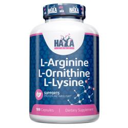 L-Arginine / L-Ornithine / L-Lysine 100 Caps