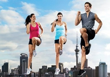 Burn calories with BODYSTEP